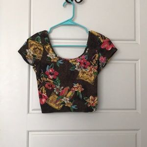 Tropical crop top from forever 21